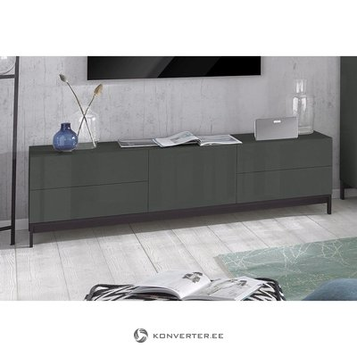 Gray High Gloss TV Cabinet (Anniversary)