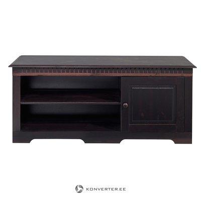 Темно-коричневая подставка под телевизор