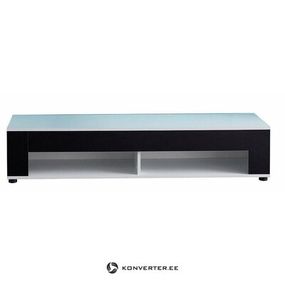 Black and white TV cabinet (with beauty flaws, sample hall)
