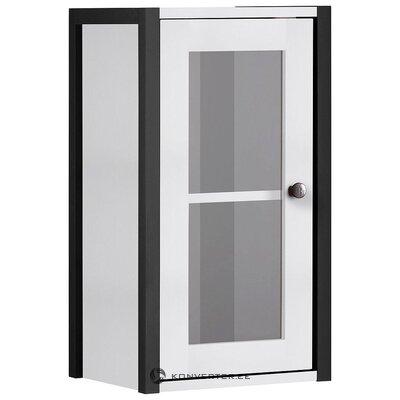 Черно-белый настенный шкаф (Крис)