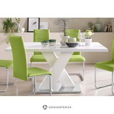 White High Gloss Dining Table (Box Whole)