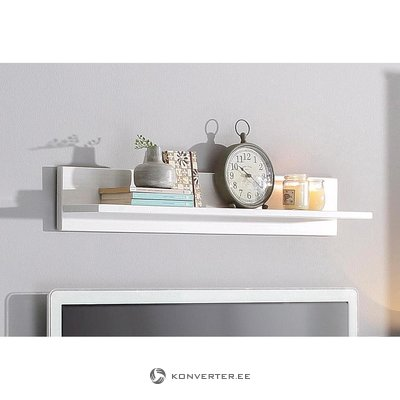 White small solid wood wall shelf