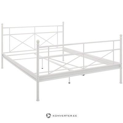Baltā metāla gulta (180x200cm)