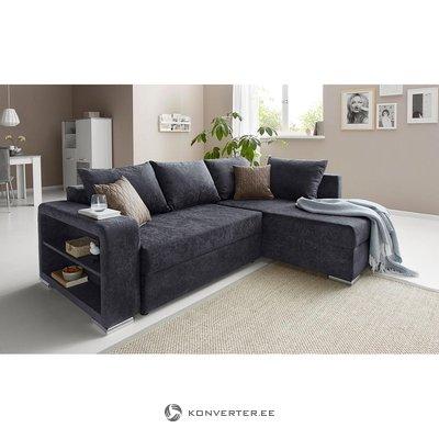 Anthracite Shelf Corner Sofa Bed (Whole, Sample Room)