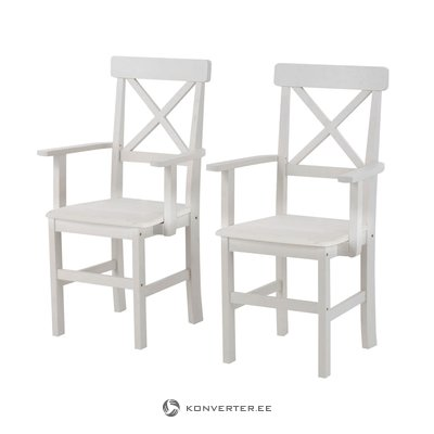 Nicoline Armchair 2 pack- White/lacquer
