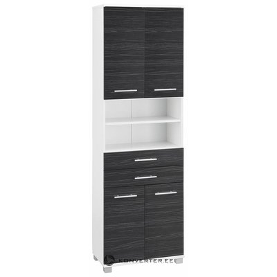 Black and white high cupboard with 2 drawers (with splashes)