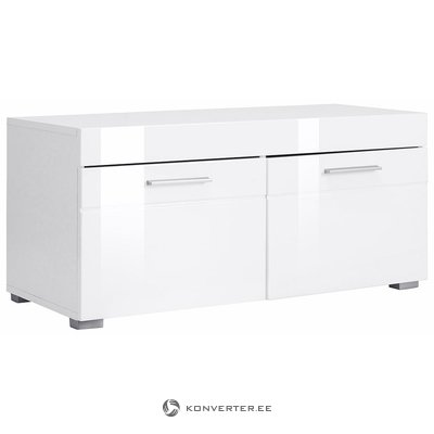 White high gloss shoe cabinet (amanda) (whole, box)