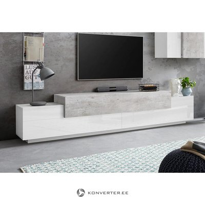Brown and white wide tv cabinet (corona)