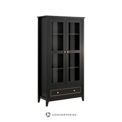 Valjo Showcase 2 Glass Doors - Black/Gold