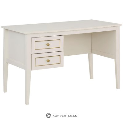 Valjo Desk 2 Drawers - Cream/Gold