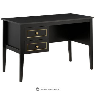 Valjo Desk 2 Drawers - Black/Gold