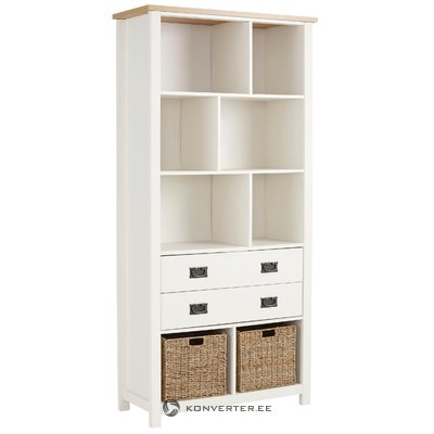 Garay Bookcase - Saxon/White