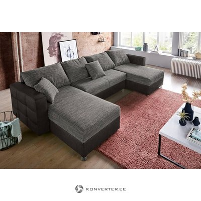 Gray corner sofa