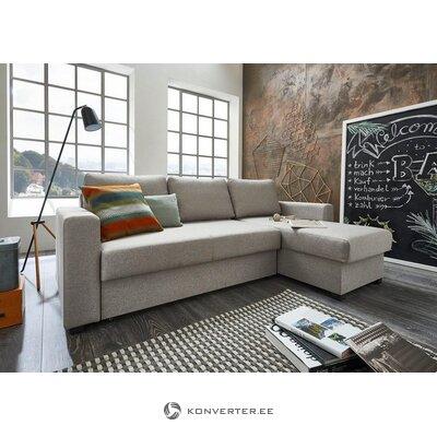 Gaiši pelēks stūra dīvāns (atlanti) (kastē, ar skaistuma defektiem)