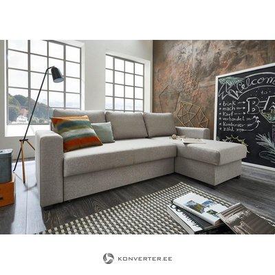 Светло-серый угловой диван (атлантический)