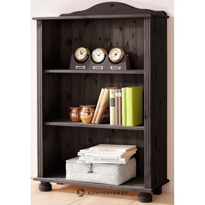 Black solid wood low bookshelf (whole, in a box)