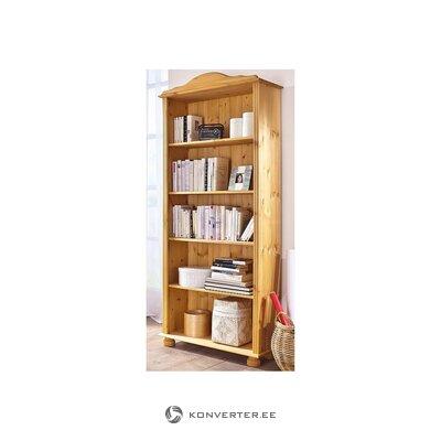 Light solid wood bookshelf