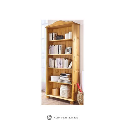 Light solid wood bookshelf (in box, whole)