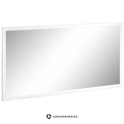 Белое зеркальное широкое зеркало (волшебное) (недостатки красоты, образец зала)