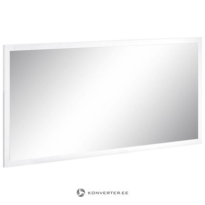 White high gloss wide mirror (with beauty defects)