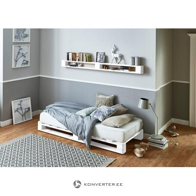 White solid wood bed (Atlantic) (without mattress) (with beauty defects, in box)