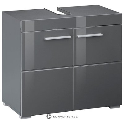 Gray high gloss sink cabinet (amanda) (with beauty defects, in box)