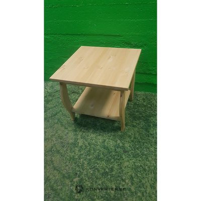 Small solid wood sofa table with shelf
