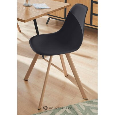 Black-brown chair (veneto) (with beauty defects., Hall sample)