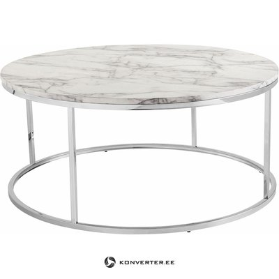 Round marble imitation coffee table (with beauty flaws, hall sample)