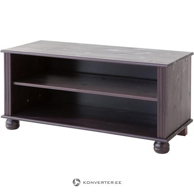 Black solid wood small TV cabinet