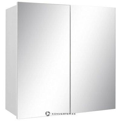 Белое зеркало в ванной (интенсо) (в коробке, целое)
