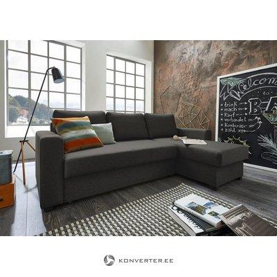Tumši pelēks stūra dīvāns (atlanti)