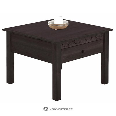 Black solid wood sofa table with 1 drawer
