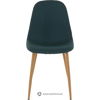 Green metal legs chair