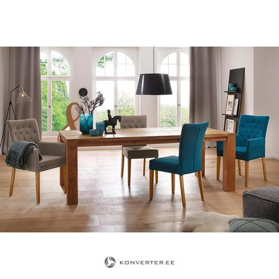 Brown wide dining table (marianne) (whole, in box)