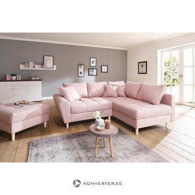 Розовый угловой диван (рис)