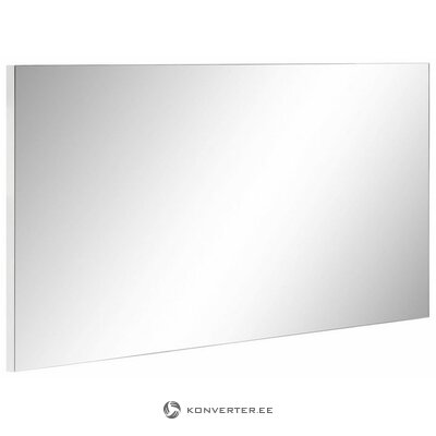 White wall mirror (sol) (with beauty defects., In box)