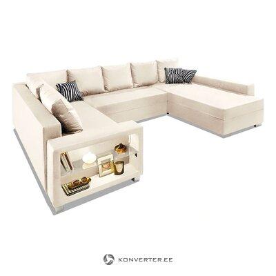 Suuri beige nurkka sohva (pariisi) (kokonainen, laatikossa)