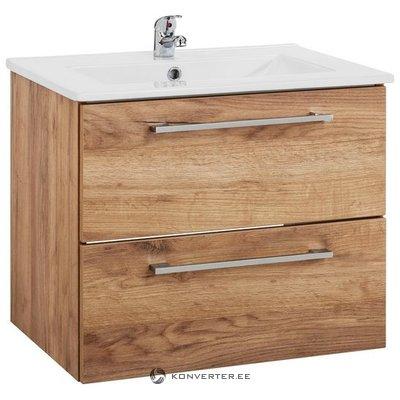 Ruda 2 stalčių praustuvo spintelė (su kriaukle) (intenso) (visa, dėžutėje)