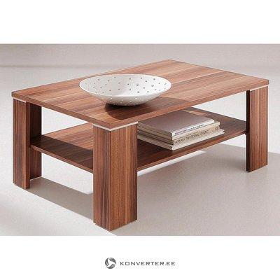 Ruskea sohvapöytä (kauneusvikoilla, laatikossa)