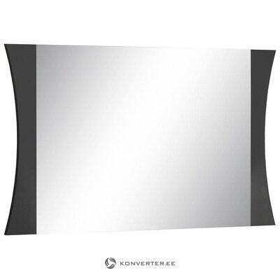Tummanharmaa korkeakiiltoinen laaja peili (vioilla. Hall-näyte)