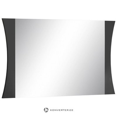 Dark brown high gloss wide mirror (in box, with beauty defects)