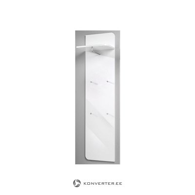 White high gloss wall rack with claws (with bugs)