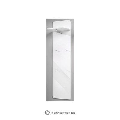 Balta blizga sieninė lentyna su kniedėmis
