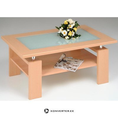 Glass coffee table (inosign) (light brown, in a box, with beauty defects)