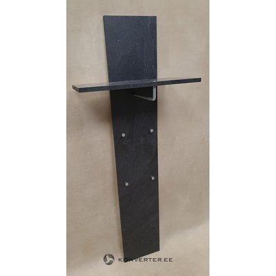 Pelēks sienas plaukts ar statīviem (skaistumkopšanas defekts, zāles paraugs)