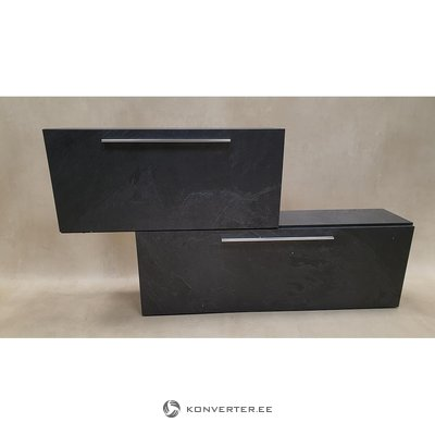 Gray shoe cabinet with 2 flaps (beauty defects, in box)