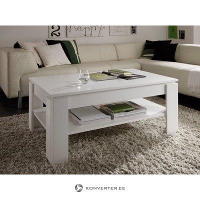Baltas kavos staliukas su lentyna (trendteam) (visa, dėžutėje)
