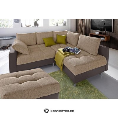 Brown corner sofa with tumble (with beauty defects)