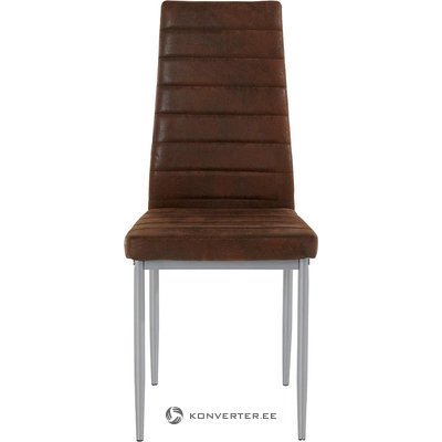 Ruskeanharmaa tuoli